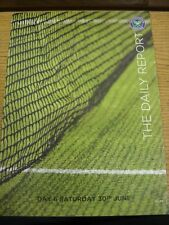 30/06/2012 Tennis: Wimbledon - The Daily Report Day 6 (slight folding around edg