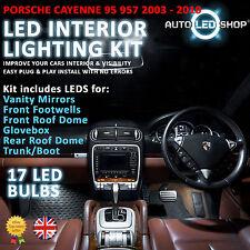 PORSCHE CAYENNE 955 957 2003-2010 WHITE LED INTERIOR LIGHT SET BULBS XENON SMD