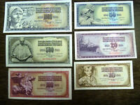 Lot Yugoslavian banknotes 10 20 50 100 500 and 1000 dinars