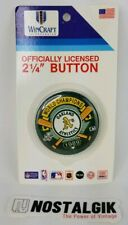 1989 Oakland Athletics World Champions button pin Canseco McGwire Series NEW
