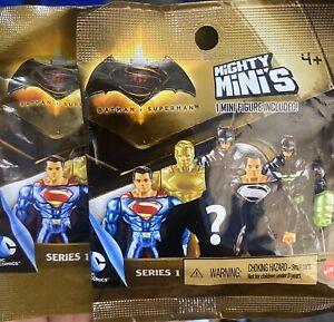 2x Mattel Batman vs Superman Mighty Minis Packs Series 1 Blind Bags