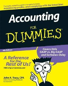 Accounting for Dummies Paperback John Tracy