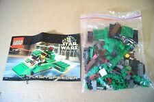 Lego 7124 Star Wars Episodio 1 Flash Speeder Perfecto completo con todas las partes Mv