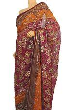 Magenta Party Saree Clothing Special Occasion Sequin Designer Cocktail Dress