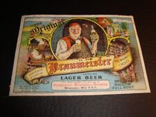 Circa 1930s Original Braumeister U-Permit Label, Independent, Milwaukee, Wi
