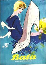 Original vintage poster BATA LADIES SPRING SHOES 1958