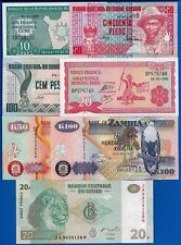 African Four Different Countries Seven Uncirculated Banknotes Set # 7