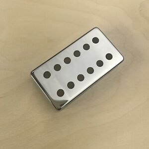 Double Row Humbucker Cover - 49.2mm, Brass Chrome Plated  GP-HBCPD49.2