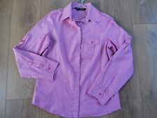 MARKS AND SPENCER AUTOGRAPH RASPBERRY STRIPED SEMI FITTED COTTON SHIRT SIZE 12