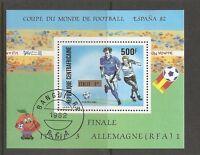 Central African Republic SC # 548 World Cup 1982 , Final. Souvenir Shett. MNH