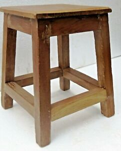 Reclaimed wood table Occasional Coffee Bathroom multi use premium wooden stool