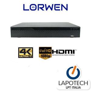 LORWEN NVR 8 CH 9 CANALI LW-NVR4KR9C H265 H264 HDMI VGA 4K PROFESSIONALE