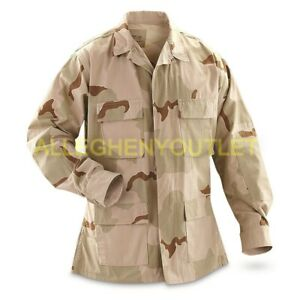NEW US MILITARY DCU DESERT CAMO UNIFORM BDU COAT SHIRT TOP Sizes XS THRU XL