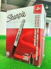 Sharpie Permanent Markers Fine Point Black 36 Count