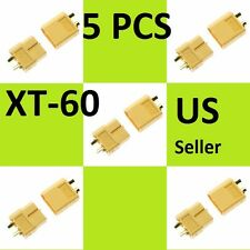 5 Pairs XT60 Male & Female Bullet Connectors Plugs For RC Hobby Lipo Battery