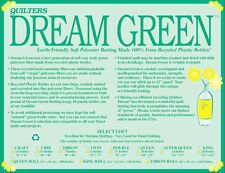 Super Queen Size Batting Quilters Dream Green Select Mid Loft