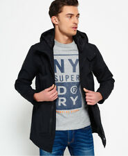 New Mens Superdry Surplus Goods Parka Black