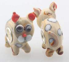 1pcs MURANO GLASS BEAD LAMPWORK Fit European Charm Bracelet DWO-44 lovely Animal