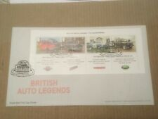 GB 2013 British Auto Legends Miniature Sheet RM UA FDC Wallingford SHS