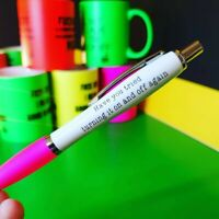 FREE POST Do not chew it/'s been up my a*se Funny Sweary Novelty Profanity Pens