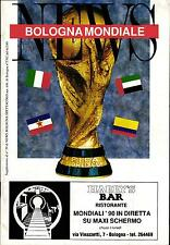 WM Italien 1990 Gesamtbroschüre BOLOGNA MONDIALE - World Cup Italy 1990