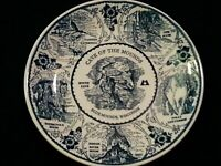 """RARE Fine American Ironstone Plate 10"""" CAVE OF THE MOUNDS BLUE MOUNDS WISCONSIN"""