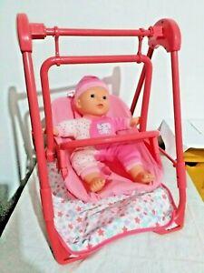 Baby Doll Swing Pram Pink