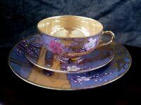 Fine Antique Shofu Nagoya hand painted enamel porcelain tea set early 1900's