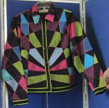 EUC Beautiful PATCHWORK JACKET by LIFE STYLE Sz M 100% Cotton LINED Made INDIA