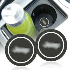 2PCS Silicone Car Cup Pad Mat Holder Coaster Bottle fit for Jeep 70mm