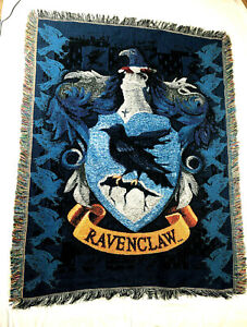Ravenclaw Throw Blanket Harry Potter House Shield Crest Afghan Tapestry