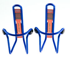 One Pair of Avenir Classic Slider Aluminum Bicycle Water Bottle Cage Blue