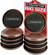 """Furniture Sliders For Carpet X-Protector – Best 8-Pack 4 3/""""Heavy Moving Pads"""