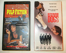 QUENTIN TARANTINO VHS LOT PULP FICTION COLLECTOR'S EDITION & RESERVOIR DOGS NTSC