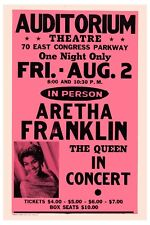 Queen of Soul: Aretha Franklin Concert Poster 1974  12x18