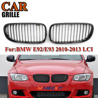 Gloss Black Front Kidney Grille Grill For BMW E92 E93 3-Series 2D 10-13 Facelift