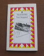 TRAVESTIES a play by Tom Stoppard-  1st PB printing 1975 Faber UK VG
