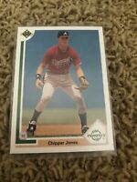 1991 Upper Deck Chipper Jones, Top Prospect Rookie Card #55, Atlanta Braves HOF