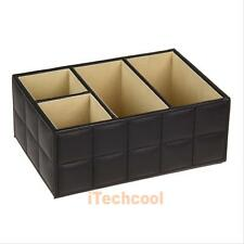 Leather Storage Box Desk Tidy Organizer Holder for Remote Control/Phone/Cosmetic