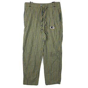 Green Bay Packers Stripes Lounge Pajama Pants NFL Size Small Elastic Waist