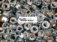 (10) 7/8-9 Slotted Hex Castle Nut Zinc Plated 7/8x9 Coarse Thread Lock Nut