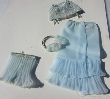 Vintage Barbie Doll Undergarments #919 Blue Bra, Girdle ,Slip, Panties 1962