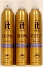 3 Freeze It Original Freeze Hold Hair Spray  10 Oz ea.
