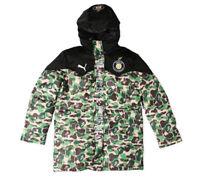 A Bathing Ape Bape Men's Coat Jacket Winter Thicken Green Camo Hooded Long Tops