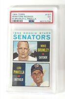 1964 Topps Senators Rookies M. Brumley/ L. Piniella  #167 - PSA 5