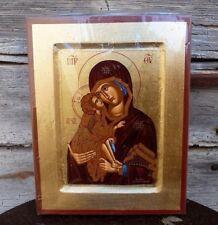Icone sérigraphie Vierge de Vladimir copie d'une oeuvre byzantine 18 cm x 14 cm