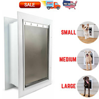 NEW Pet Safe Wall Dual Entry Telescoping Pet Door for Dogs - Large Med Small