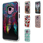 For Samsung Galaxy S9 / S9 PLUS Brushed Hard HYBRID Rubber Case Snap On Cover