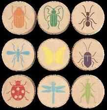 Stempelset Insekten 9-teilig, Holzstempel Insekten, Insektenstempel, Tierspuren