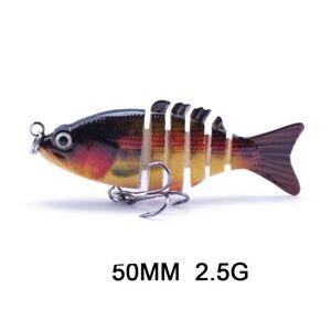 Multi Joint Fishing Hard Bait Lures Swimbait Crankbait Fish Tackle5 Wobbler Hook
